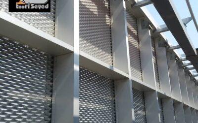 توری لوزی آلومینیومی در ساخت و ساز ساختمان